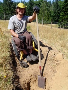 Justin Tilson - digging swales at OUR Ecovillage
